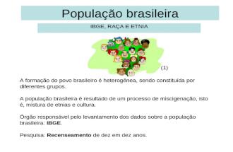 Popula§£o brasileira   ibge, ra§a e etnia