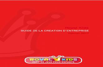 Royal kids   guide de la création d'entreprise