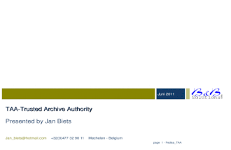 trusted archiving authority - LTANS