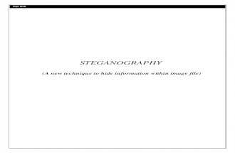 Steganography Synopsis