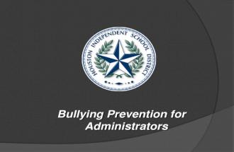 Bullying prevention webinar