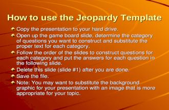 Jeapardy Test