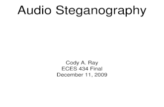 Psychoacoustic Approaches to Audio Steganography