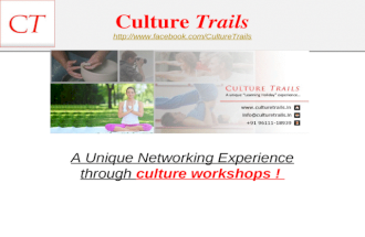 Culture Trails - Learning Holidays - Truly Fun Workshop