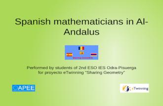Spanish mathematicians