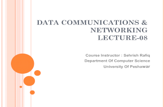 Lecture About Data Communication and Networking