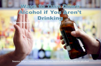 Ways to Turn Down Alcohol if You Aren't Drinking