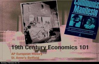 19th century economics 1011