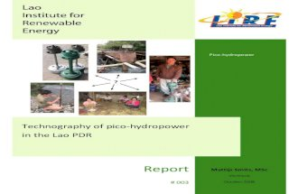 LIRE-Technography of Pico-hydropower in the Lao-PDR-Report3