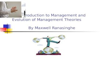 An introduction to management and evolution of management