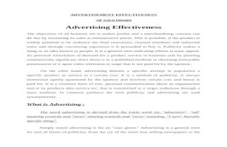 Advertising-Effectiveness Cold Drink