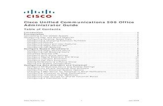 Cisco UC500 Admininstrator Guide