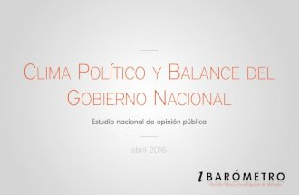 Encuesta: Clima político y balance del gobierno nacional