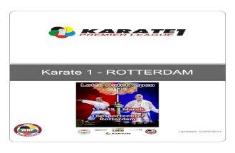Karate1 Premier League - Rotterdam 2017 Bulletin