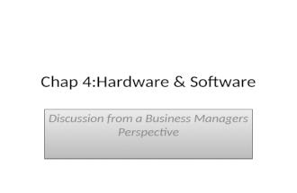 Chap 4 hardware & software