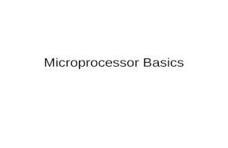 microprocessor Lec 01 mic