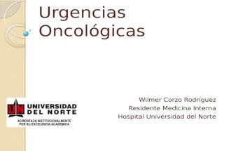 Urgencias Oncolgicas