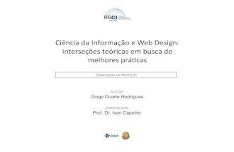 Ciência da Informação e Web Design: interseções teóricas em busca de melhores práticas.