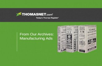 THOMASNET Archives: Manufacturing Ads