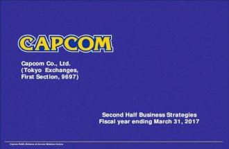 Capcom Financial Results Presentation for 2nd Quarter in FY2016