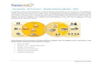 Param Info   BI Practice – Global Delivery Model - ODC