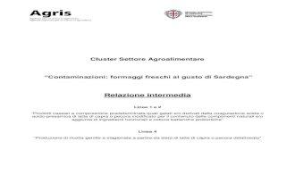 """Cluster Settore Agroalimentare """"Contaminazioni: formaggi freschi al gusto di Sardegna"""" - Relazione intermedia"""