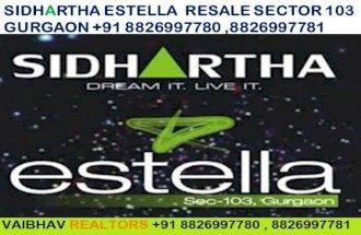 Sidhartha Estella Resale  Sector 103 Gurgaon Haryana Dwarka Expressway Call VR 8826997781