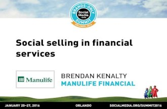 Social selling in financial services, presented by Brendan Kenalty