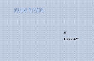 Unknown inventors