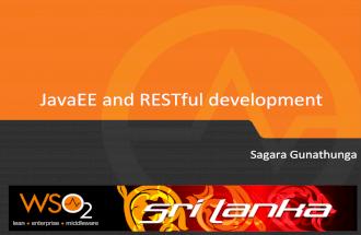 JavaEE and RESTful development - WSO2 Colombo Meetup