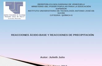 Presentacion de quimica julieth