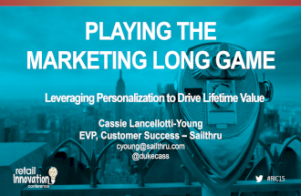 Playing The Marketing Long Game #RIC15