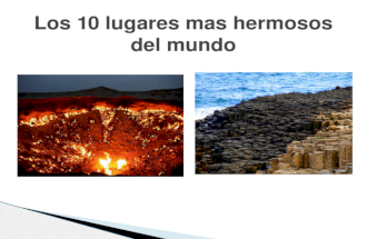 Los 10 lugares mas hermosos del mundo
