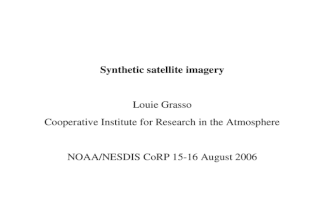Synthetic satellite imagery Louie Grasso Cooperative Institute for Research in the Atmosphere NOAA/NESDIS CoRP 15-16 August 2006