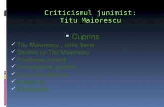 Criticismul junimist
