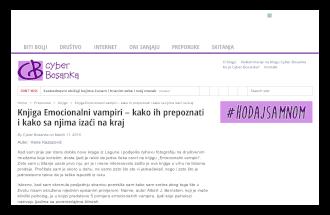 Knjiga Emocionalni Vampiri - Kako Ih Prepoznati i Kako Sa Njima Izaći Na Kraj - Cyber Bosanka