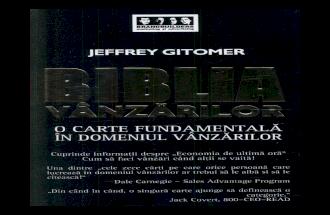 Biblia Vanzarilor - Jeffrey Gitomer