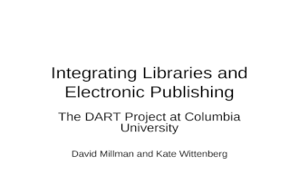 Integrating Libraries and Electronic Publishing