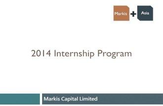2014 markis capital internship program