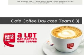 Café coffee day - case presentation