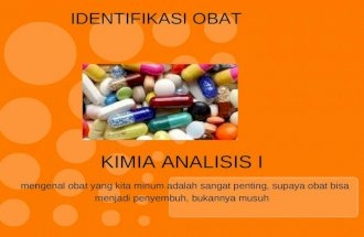 Identifikasi obat