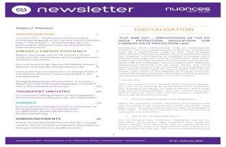nuances newsletter - February 2014