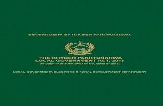 Local Govt Act 2013 KPK