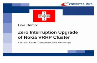 Zero Interruption Nokia VRRP Cluster Upgrade