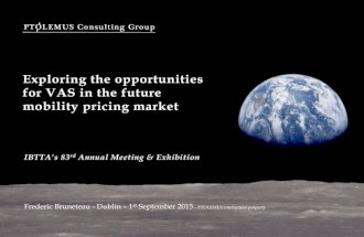 Opportunities for VAS in the mobility pricing market
