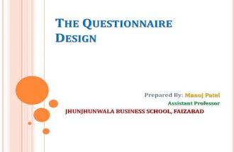 Preparation of questionnaire