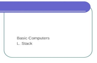 Understanding computers ch 1