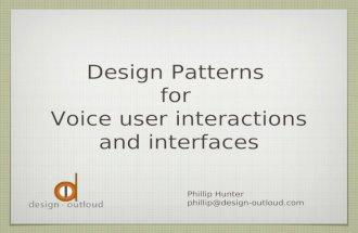 IVR Design Patterns
