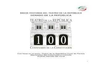 Breve historia del Teatro de la Repblica