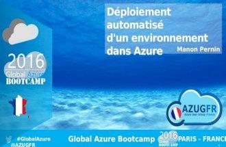 Déploiement automatisé d'un environnement  dans Azure